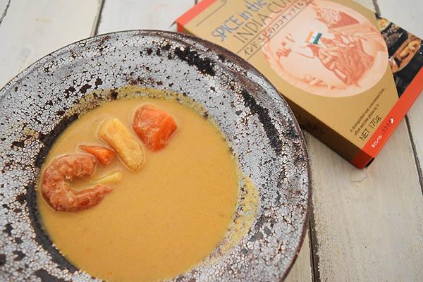 キャニオンスパイスさんのインドエビのココナッツミルクカレー