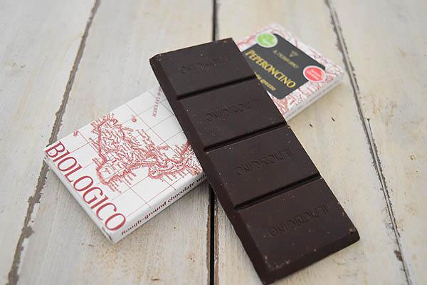 カーサ・モリミさんの有機モディカチョコレート・ペペロンチーノ