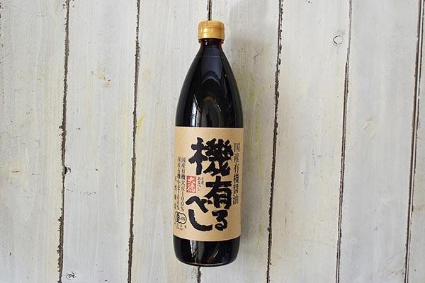 大徳醤油さんの国産有機醤油 機有るべし(兵庫県産)