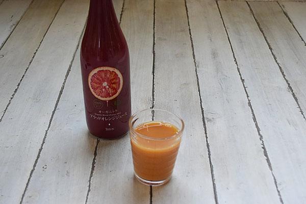 ドリーム大地さんの有機ブラッドオレンジジュース