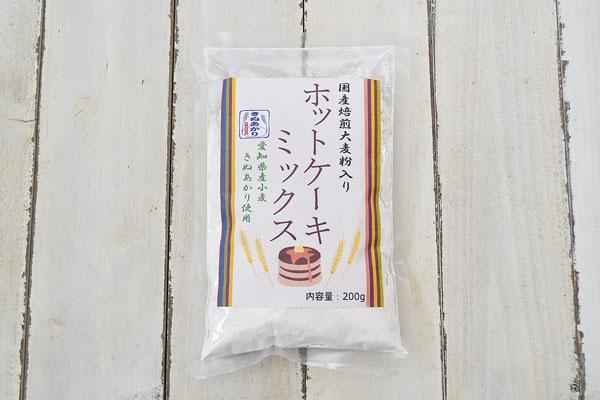 尾張製粉さんの焙煎大麦粉入りホットケーキミックス