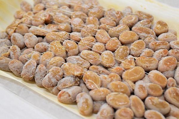最上納豆さんの山形の大豆を経木に包んだ納豆
