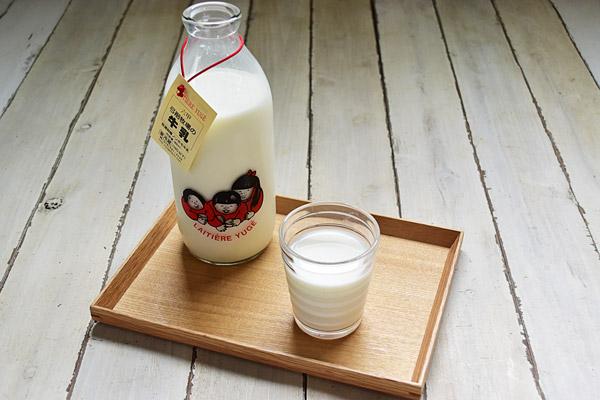 弓削牧場さんの牛乳