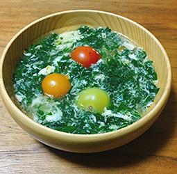 モロヘイヤと玉子のスープ